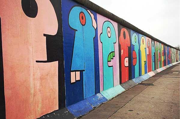 Il muro di Berlino rimasto intatto