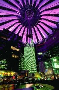Una vista del Sony Center a Postdamer Platz