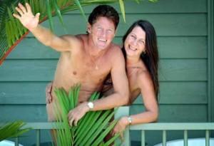 Tony Fox e la moglie, i proprietari del resort australiano