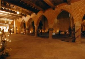 Il porticato del Castello di San Vito
