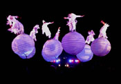 Lo spettacolo TheSpheres @ Docklands