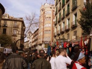 Il mercato del Rastro a Madrid.