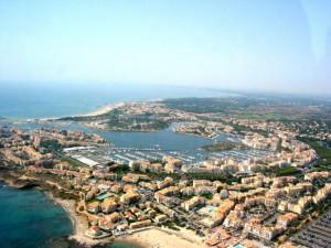 Vista aerea di Cap d Agde