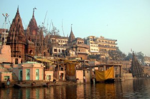 Varanasi sul fiume Gange.