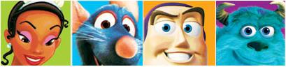 Principessa Tiana, Remy, Buzz Lightyear e Sully