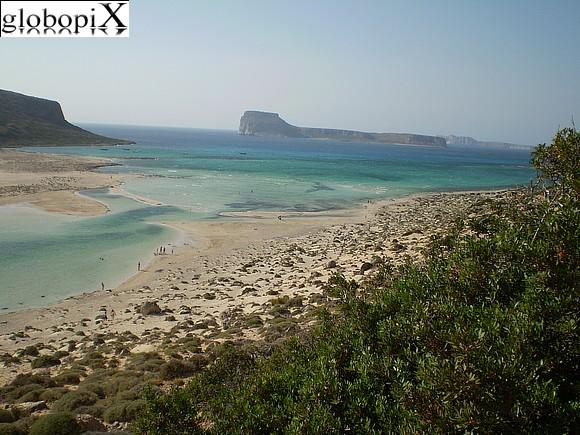 La baia di Balos a Creta.