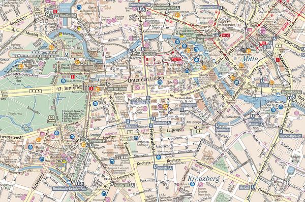 CARTINA DI BERLINO - MAPPA DI BERLINO