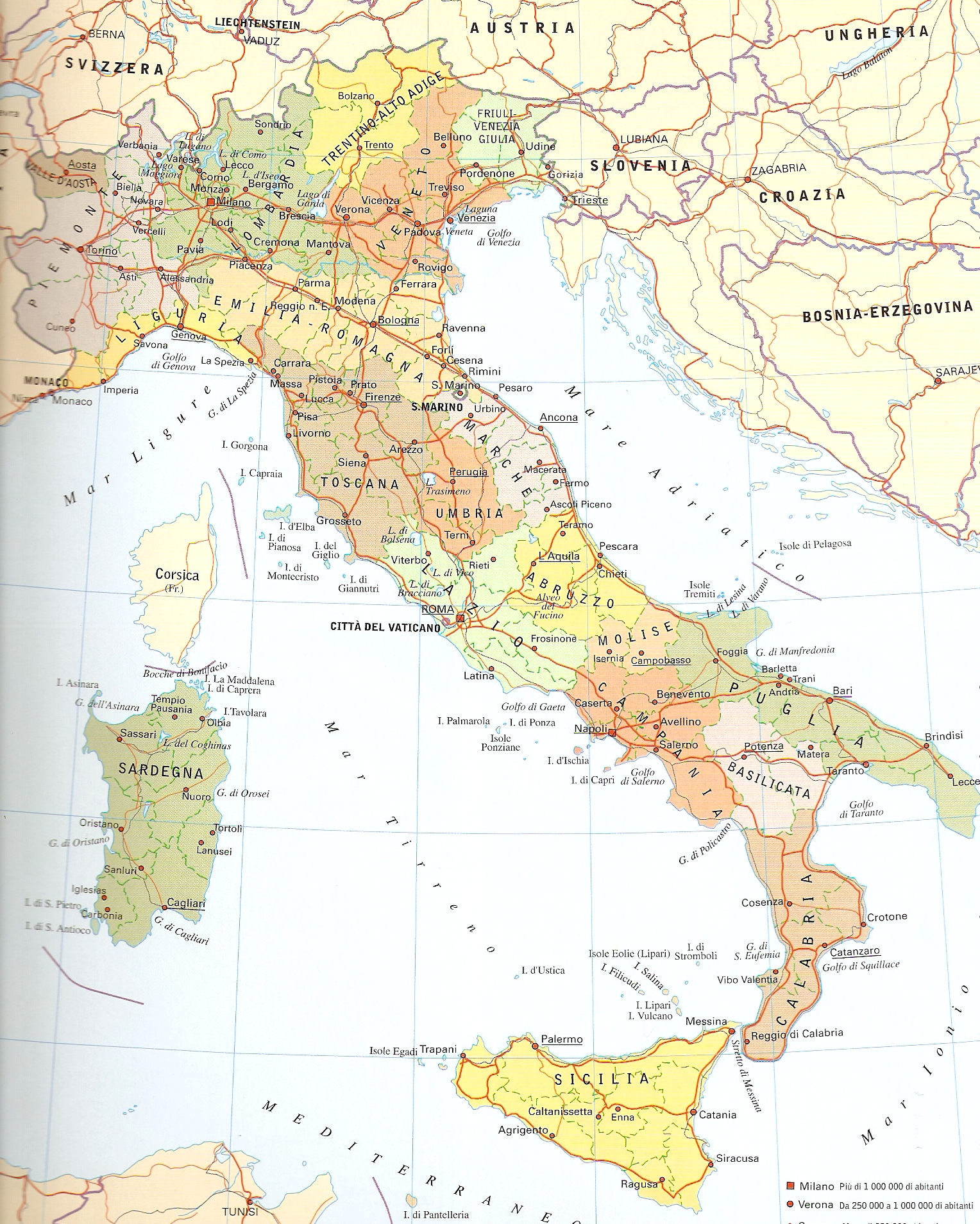 Cartina Nord Italia Geografica.Cartina Dell Italia Politica Da Stampare Cartina Dell Italia