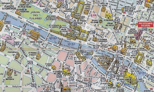 Cartina Turistica Di Parigi.Cartina Parigi Mappa Di Parigi Cartina Mappa Monumenti Parigi